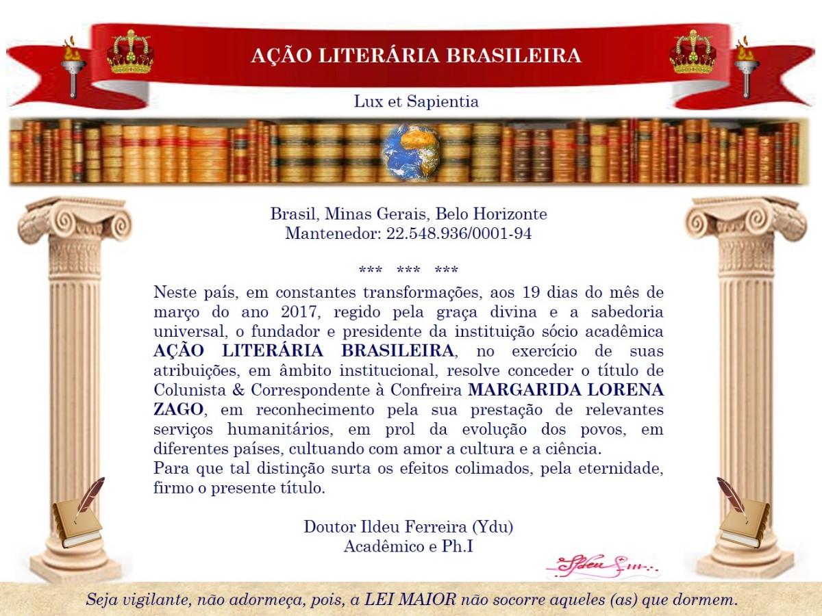 Títulos acadêmicos LORENA ZAGO 03.2017