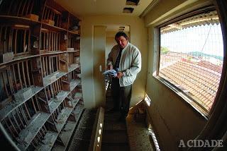 Márcio Mattos criador de pombo correio de Ribeirão Preto-SP