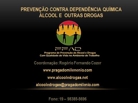 Palestra em Power Point Prevenção Álcool e Drogas