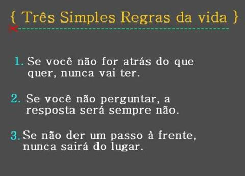 3 regras