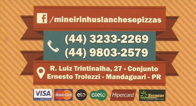 Vem pro Mineirinhus Burger, ou peça para entregar... Ligue 3233-2269 / 98032579 Whats Lanches prensados e sem Prensar...Hambúrguer grelhado Local amplo, higiênico e agradável.