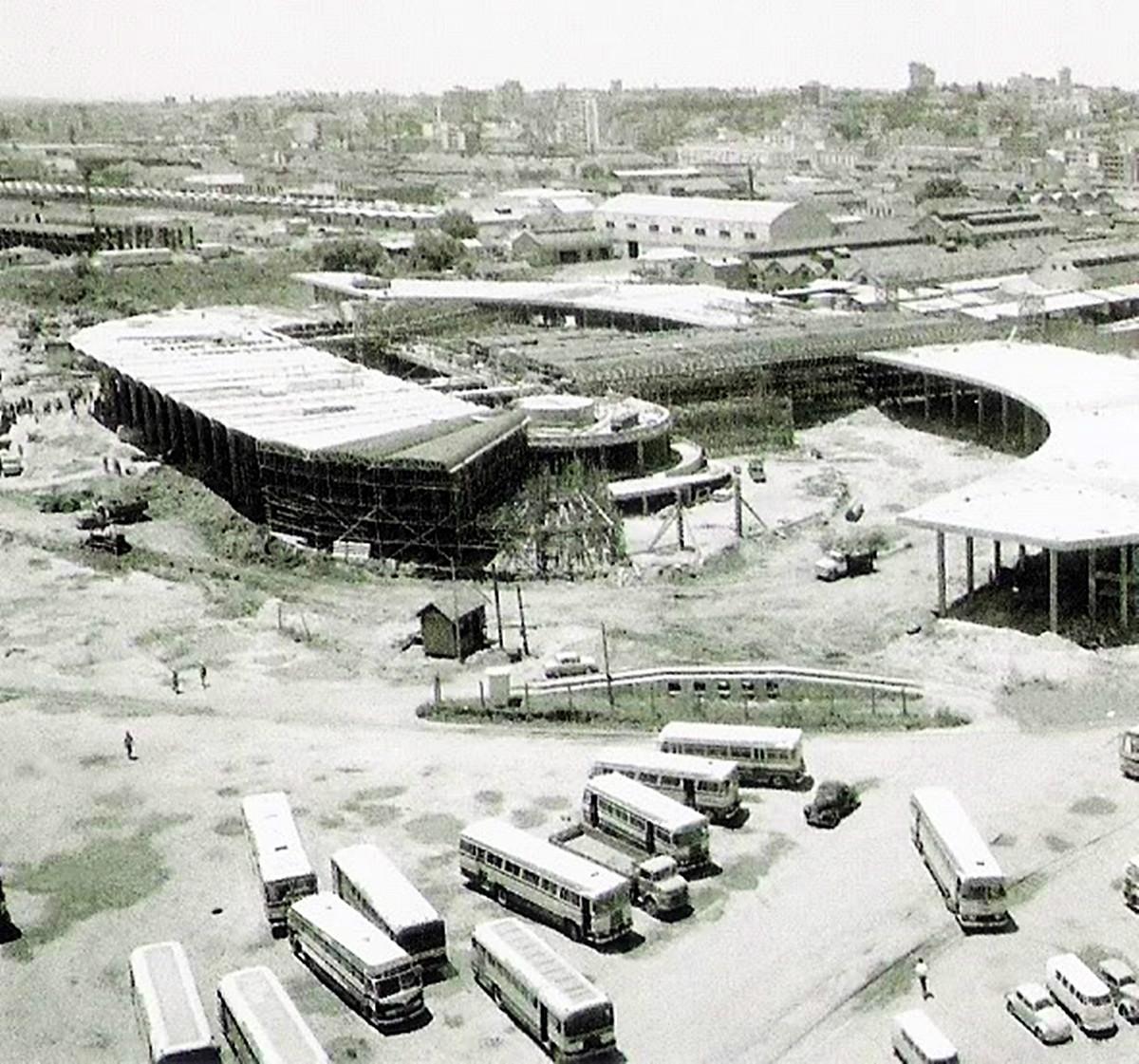 Obras estação rodoviária 1969