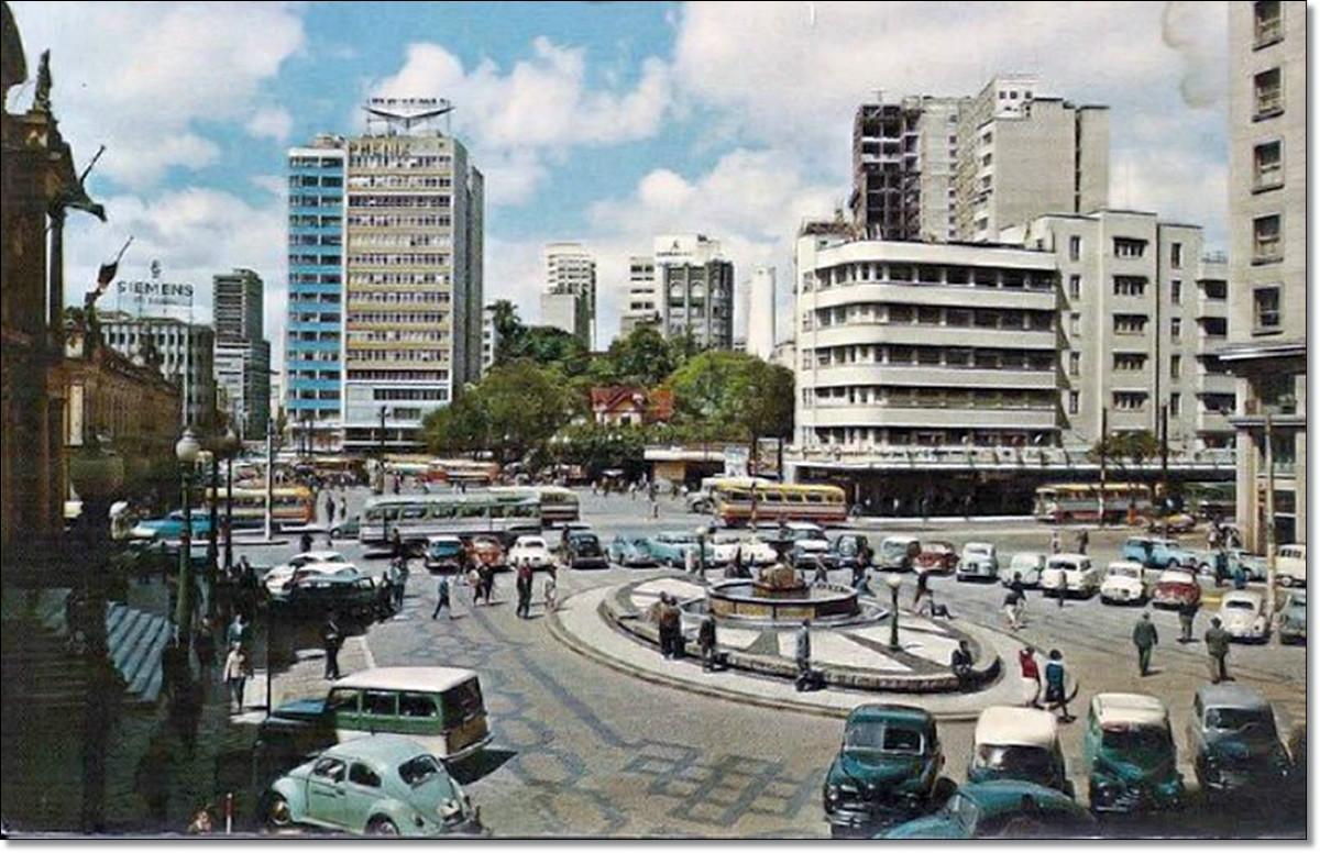 Prefeitura, mercado, fonte Talavera, prédio Guaspari déc. de 1960.