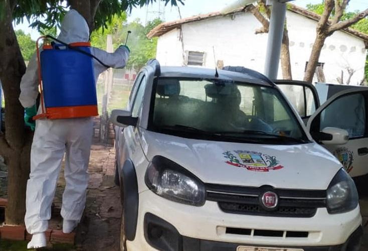 Prefeitura de Pau D'arco realizado ações de desinfecção de locais públicos