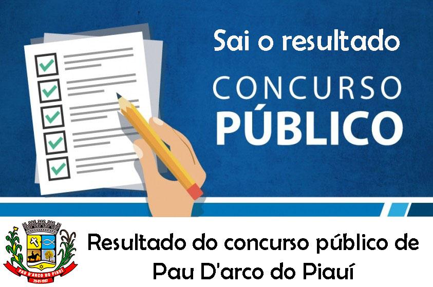Sai o resultado do concurso público de Pau D'arco do Piauí. https://portalpaudarco.com/