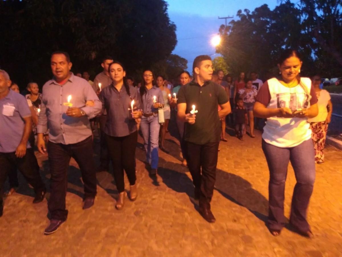 Procissão de encerramento da festa de N. Sra. de Fátima em Pau D'arco do Piauí