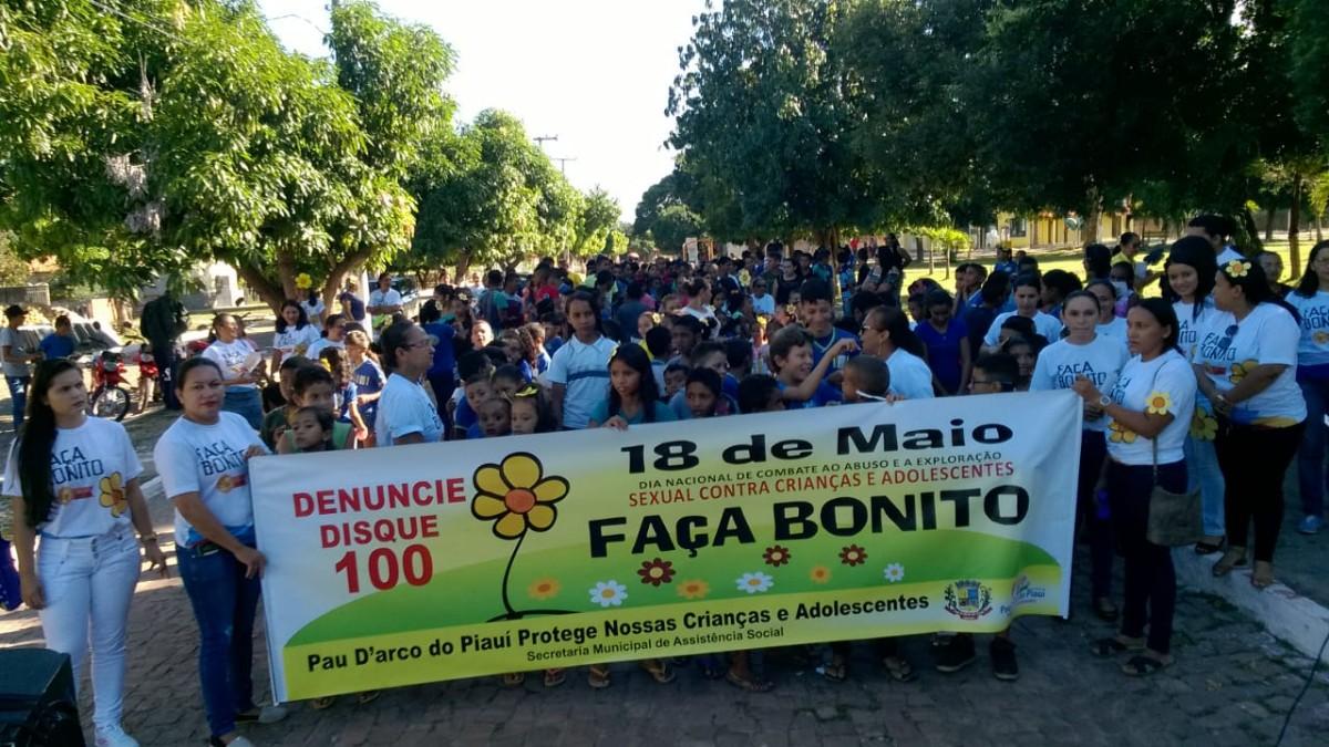 """Prefeitura de Pau D´arco do Piauí participa da campanha """"Faça Bonito"""""""