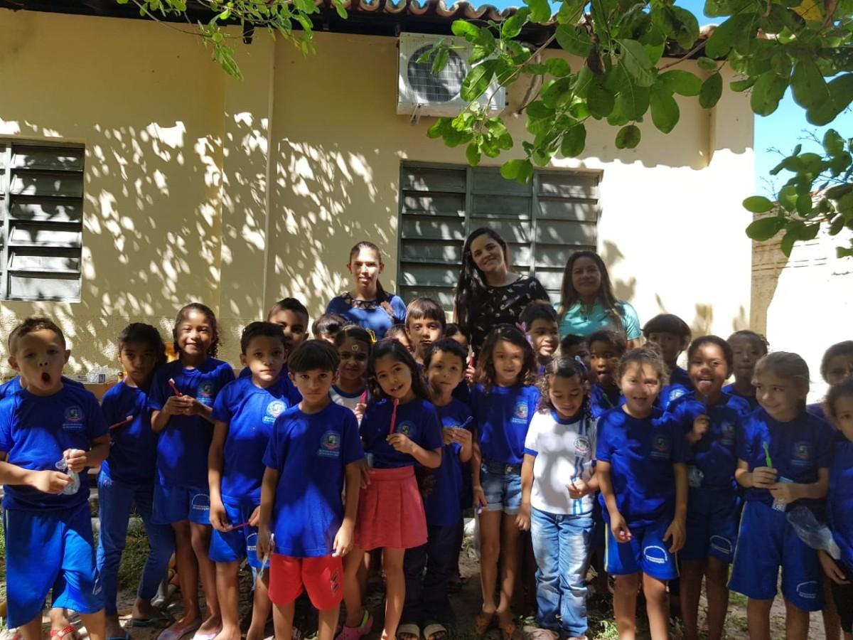 Programa Saúde na Escola em Pau D'arco do Piauí, realiza palestras de Higiene Bucal