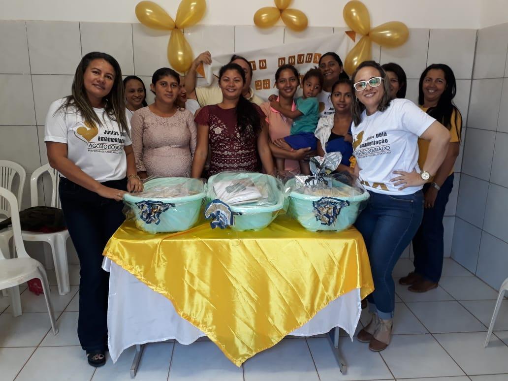 Secretaria municipal de saúde com parceria com a Assistência Social de Pau D'arco do Piauí realiza campanha Agosto Dourado
