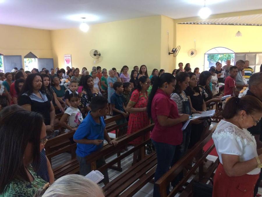 Aniversário foi comemorado com missa na Capela de Nossa Senhora de Fátima