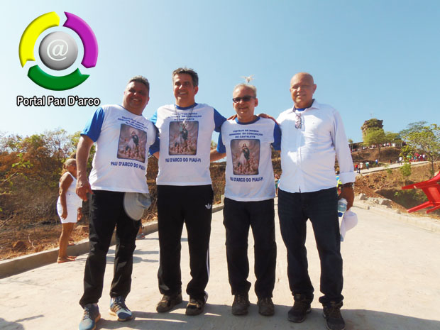 Nilton Bacelar, Ciro Nogueira, Firmino e Júlio chegam ao Casetelete encerrando caminhada