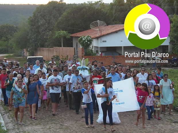 Procissão marca abertura dos festejos de Nossa Senhora de Fátima, em Pau D'arco do Piauí