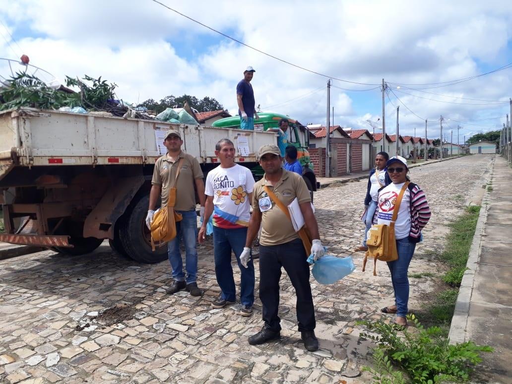 Agentes de saúde e endemias realizam mutirão contra mosquito Aedes Aegypti em Pau D'arco do Piauí
