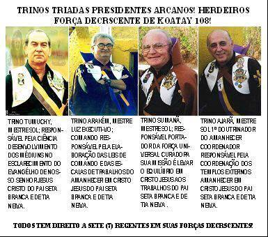 Salve Deus! Trinos Presidentes Regentes Agla Koatay 108! Salve Deus.