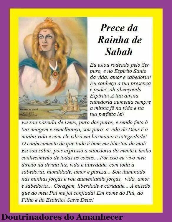 Salve Deus! A RAINHA DE SABÁ! Salve Deus!