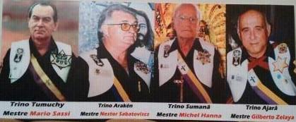Salve Deus! Os Trianos Presidentes Herdeiros Triadas Regentes Koatay 108! Salve Deus.