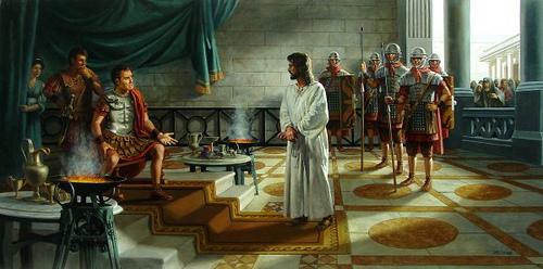 JESUS É LEVADO A PILATOS!