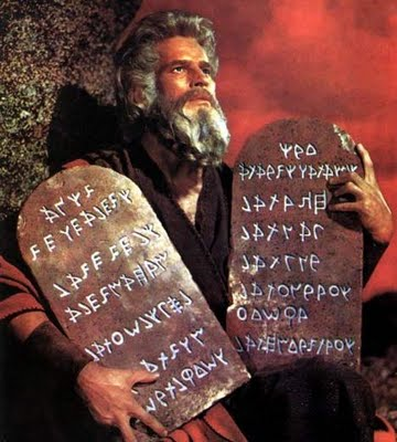 Moisés os Mandamentos!