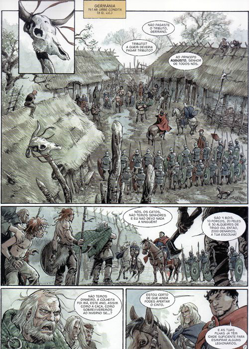 Prancha de: ÁGUIAS DE ROMA (AS) - 3 . ÁGUIAS DE ROMA (AS) - Livro III