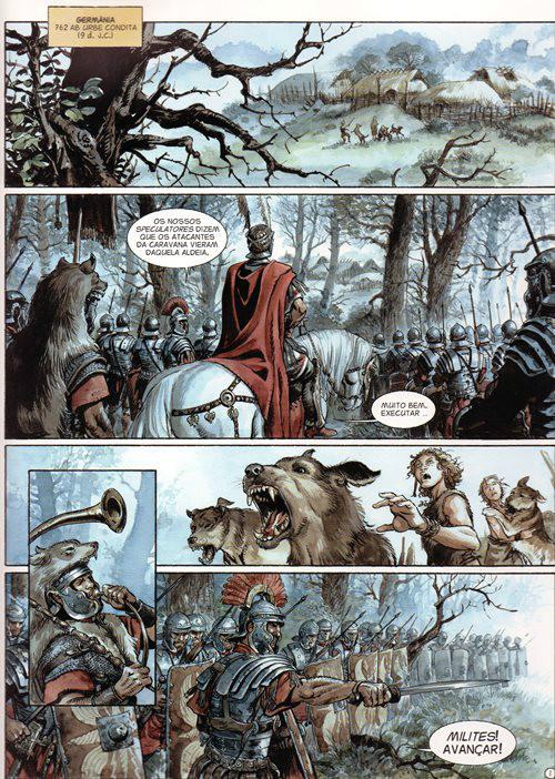 Prancha de: ÁGUIAS DE ROMA (AS) - 4 . ÁGUIAS DE ROMA (AS) - Livro IV
