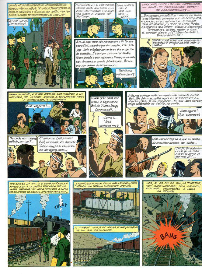 Prancha de: BLAKE ET MORTIMER - 3 . SEGREDO DO ESPADÃO (O) - V. 3
