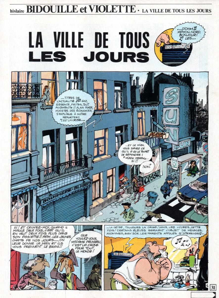 Prancha de: BIDOUILLE ET VIOLETTE - 4 . VILLE DE TOUS LES JOURS (LA)
