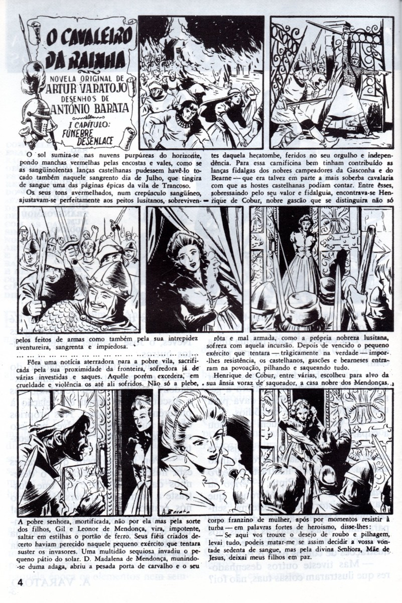 Prancha de: CAVALEIRO DA RAINHA (O) - 1 . CAVALEIRO DA RAINHA (O)
