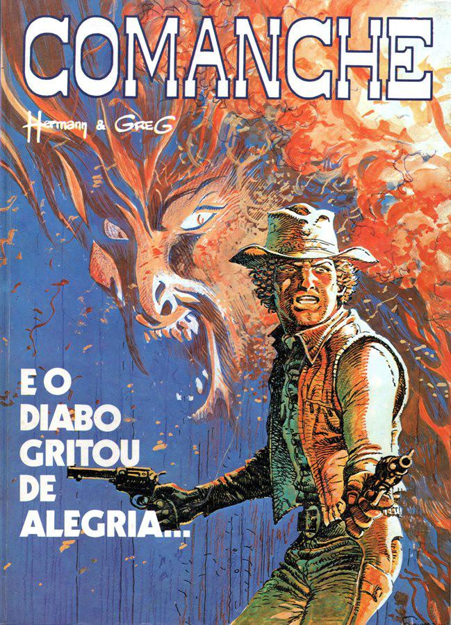 Capa  COMANCHE - 9 . E O DIABO GRITOU DE ALEGRIA...