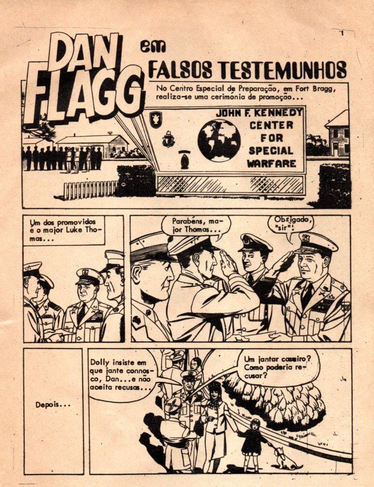 Prancha de: DAN FLAGG - 4 . FALSOS TESTEMUNHOS