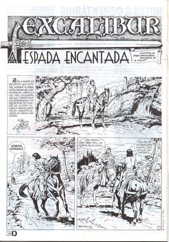 Prancha de: EXCALIBUR - 1 . ESPADA ENCANTADA (A)