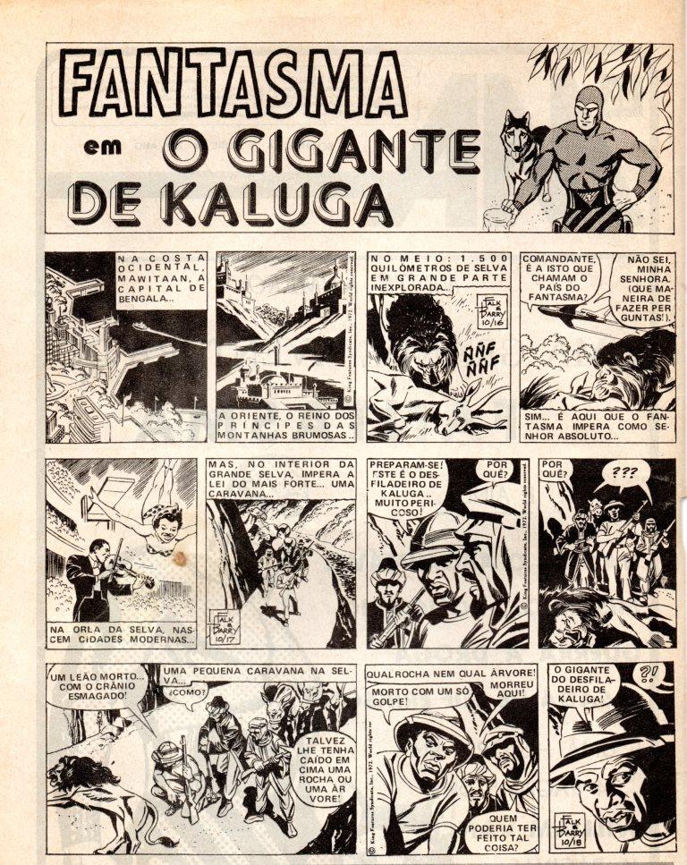 Prancha de: FANTASMA - 9 . GIGANTE DE KALUGA