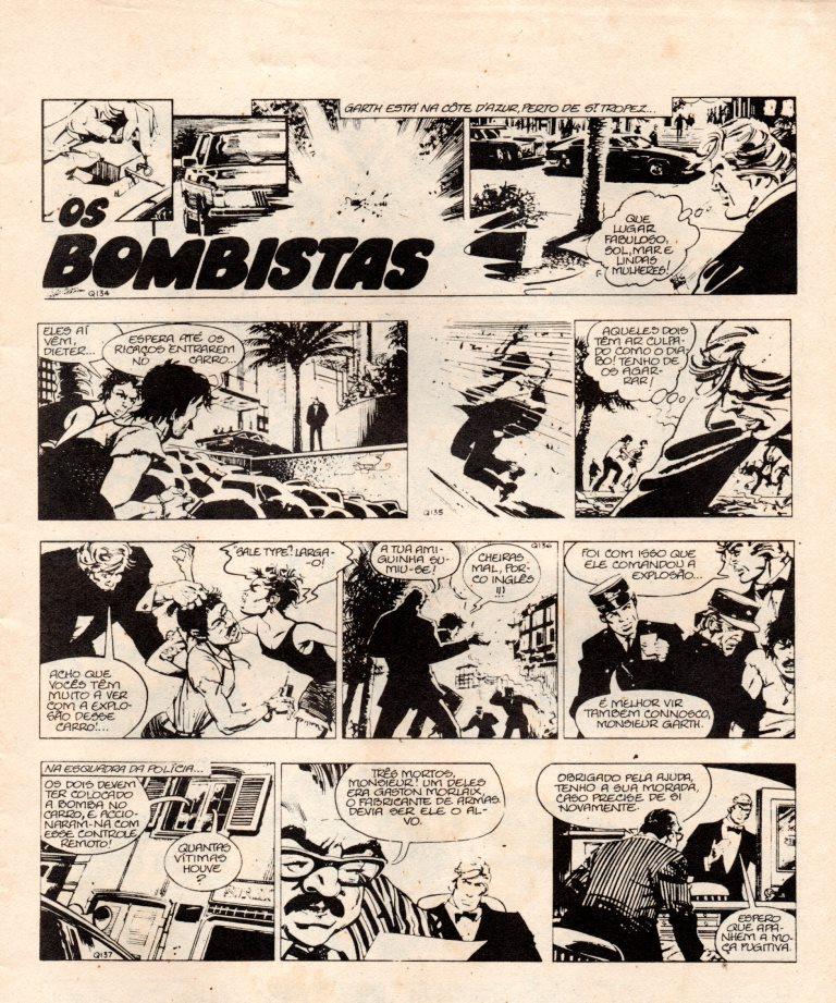 Prancha de: GARTH - 28 . BOMBISTAS (OS)