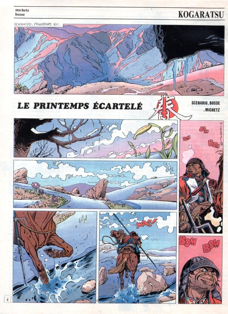 Prancha de: KOGARATSU - 4 . LE PRINTEMPS ÉCARTELÉ