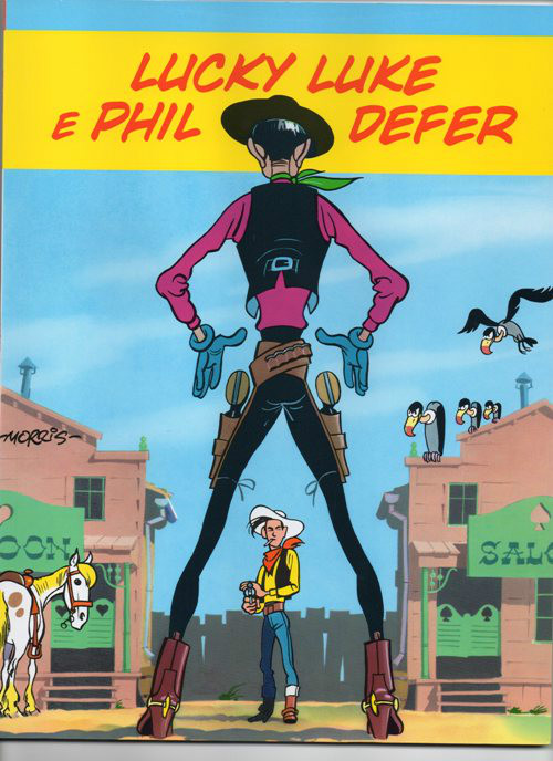 Capa de: LUCKY LUKE - 8 . LUCKY LUKE E PHIL DEFER