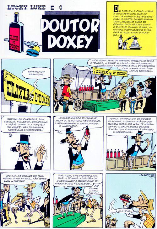 Prancha de: LUCKY LUKE - 7 . ELIXIR DO DOUTOR DOXEY (O) e CAÇA AO HOMEM