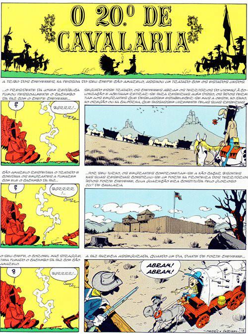 Prancha de: LUCKY LUKE - 27 . 20º DE CAVALARIA (O)