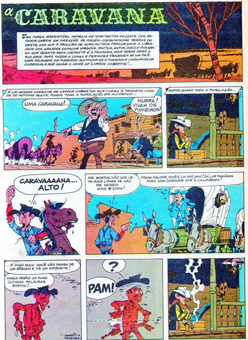 Prancha de: LUCKY LUKE - 24 . CARAVANA (A)