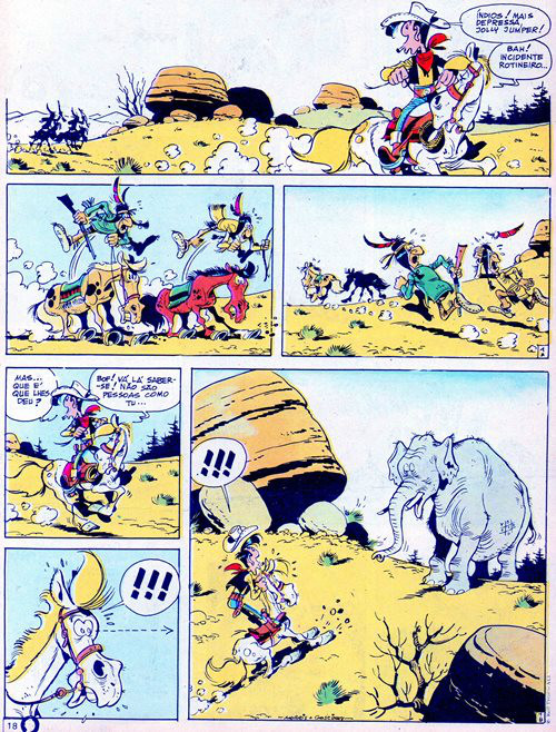 Prancha de: LUCKY LUKE - 36 . CIRCO DO OESTE (O)