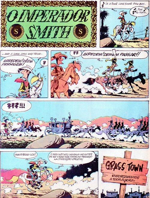 Prancha de: LUCKY LUKE - 45 . IMPERADOR SMITH (O)