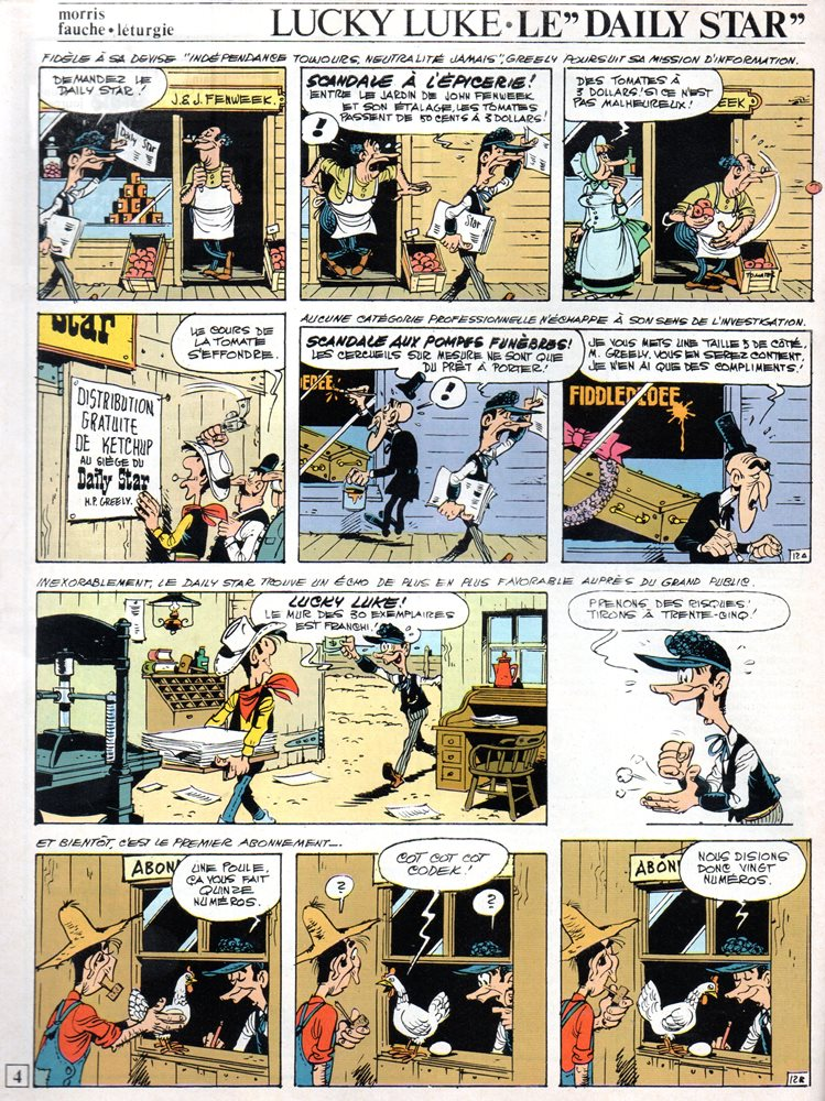 Prancha de: LUCKY LUKE - 53 . DAILY STAR (O)