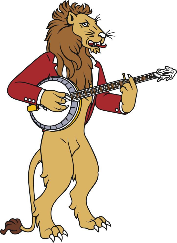 leão com banjo