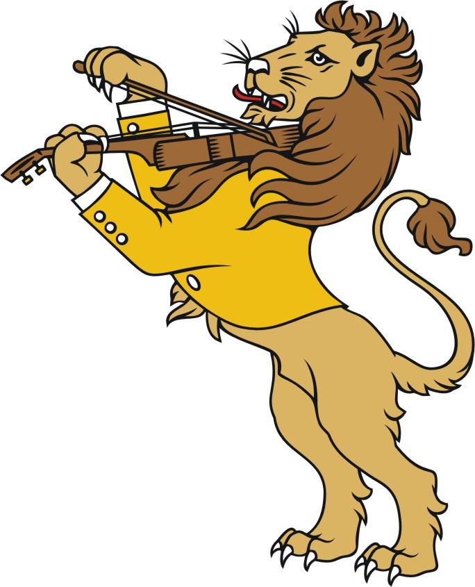 leão com violino