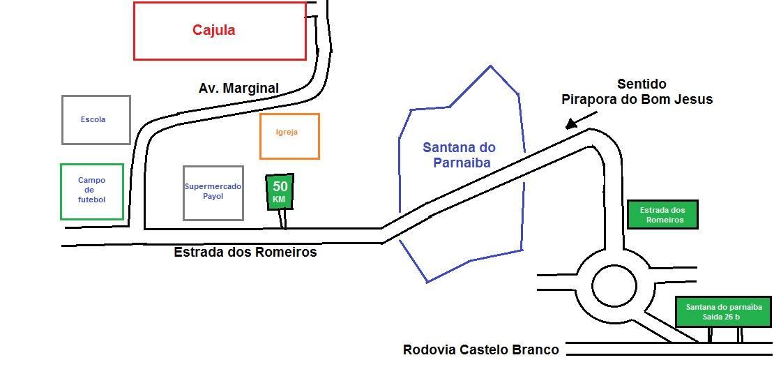 Mapa Cajula