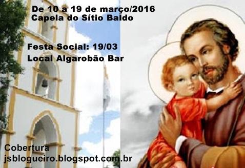 FESTA DO PADROEIRO SÃO JOSÉ DO SÍTIO BALDO