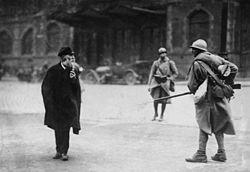 alemão e soldado francês 1923 - Rhur