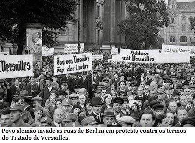 Protesto alemão contra o Tratado de Versailles