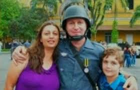 Marcelo com os pais