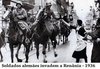 Tropas alemãs invadem a Renânia