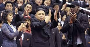 Dennis Rodman e Kim III bons amigos