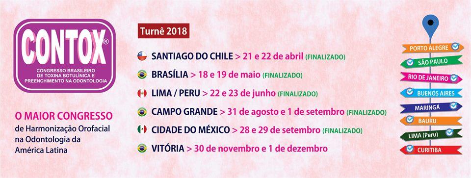 Referência em congresso na Harmonização Orofacial - HOF na América Latina, o CONTOX nasceu no Brasil organizado pela RGO. Tem como objetivo promover em cada cidade, as possibilidades do uso de toxina botulínica e preenchedores pelos dentistas.